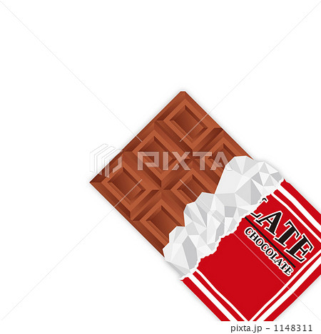 78146bafc8 板チョコ. 銀紙 板チョコのイラスト素材 ...