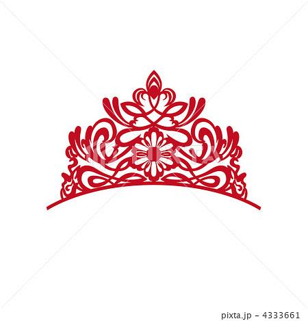 ティアラ 髪飾り 装飾品 宝飾品のイラスト素材 Pixta