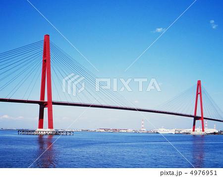 つり橋 吊り橋 名港西大橋 海の...