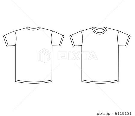 Tシャツ 半袖 服 テンプレートのイラスト素材 Pixta