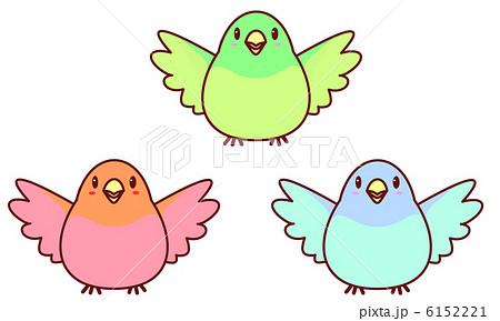 鳥 青い鳥 小鳥 翼のイラスト素材 Pixta
