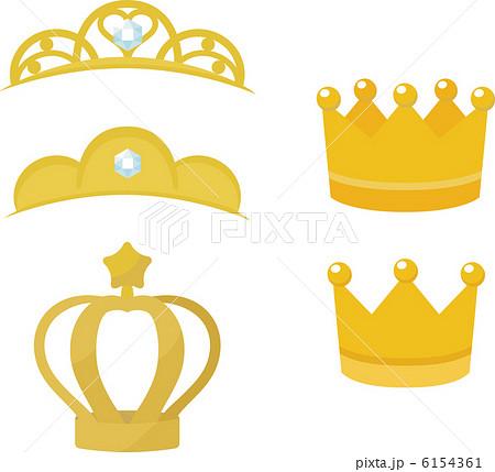 ティアラ 王冠 イラストの写真素材 Pixta