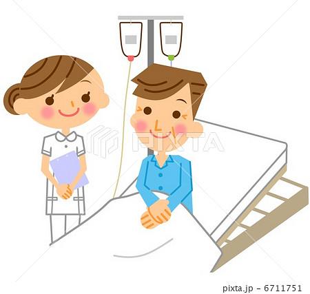 患者 入院 ナース 看護師のイラスト素材 Pixta