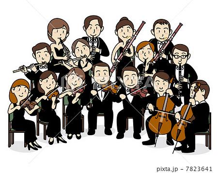 管弦楽団のイラスト素材 Pixta