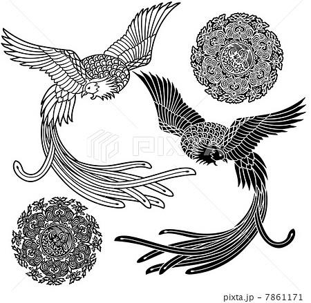 鳳凰のイラストのイラスト素材 7861171 Pixta