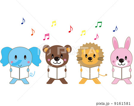 動物 合唱 イラスト 可愛いのイラスト素材 Pixta