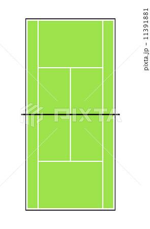 テニスコートのイラスト素材 11391881 Pixta