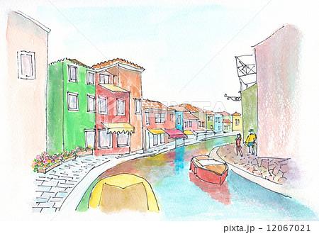 家 Burano, イタリア,ヴェネツィア ベニス, 家, 有色人種, 色,