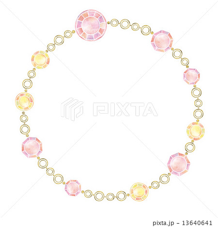 アクセサリー ビーズ ネックレス 首飾りのイラスト素材 , PIXTA
