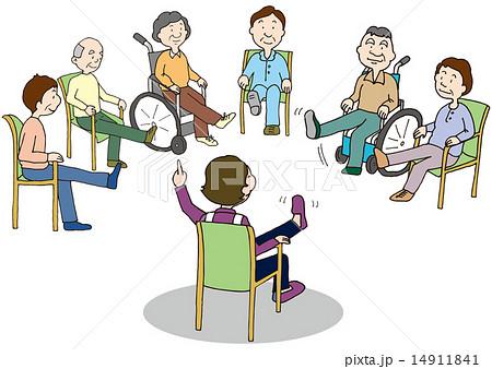 運動 リハビリ 高齢者 介護のイラスト素材 Pixta