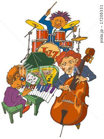 ジャズバンドのイラスト素材 Pixta