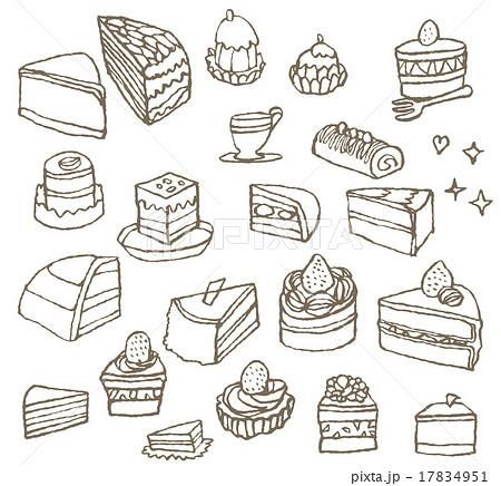 ケーキのセットのイラスト素材 17834951 Pixta