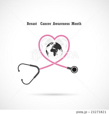 breast cancer awareness logo design breast cancerのイラスト素材