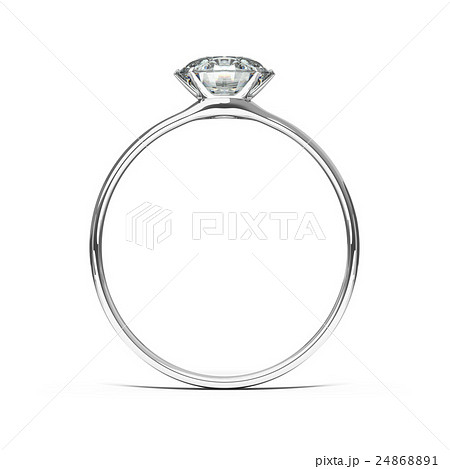 ダイヤモンドのウエディングリング 結婚指輪のイラスト素材 24868891