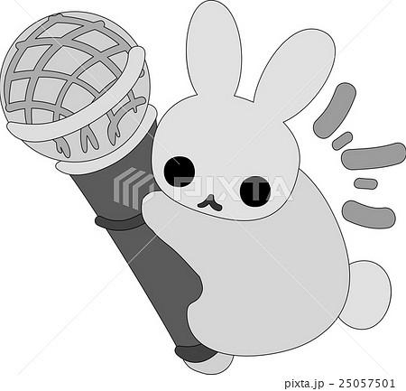 マイク ウサギ アイコン クリップアートの写真素材 Pixta