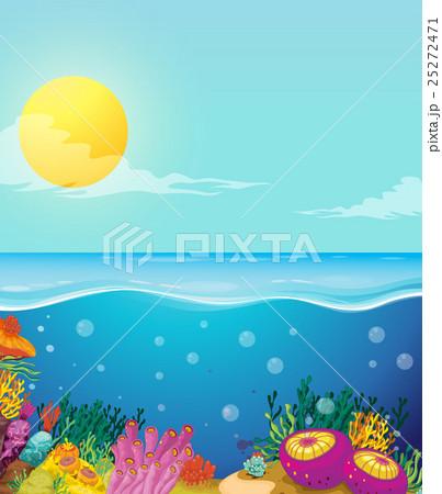 pixta scene of ocean and underwater cartoon turtle underwater voltagebd Gallery