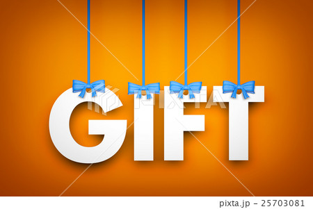 pixta gift word hanging on rope 3d illustration negle Images