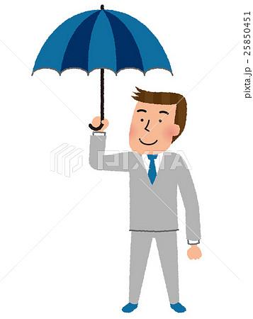傘をさすのイラスト素材 Pixta