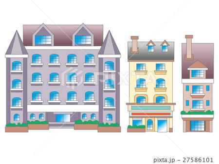 ヨーロッパ町並みのイラスト素材 Pixta