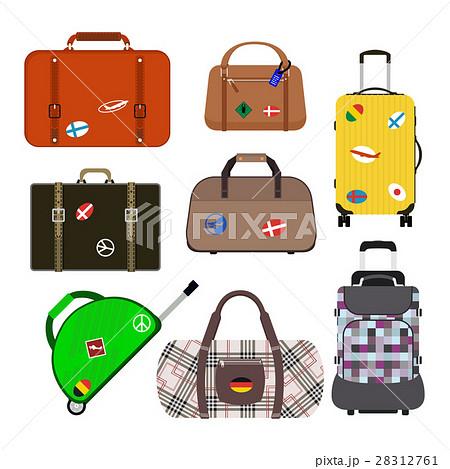 旅行かばんのイラスト素材 Pixta