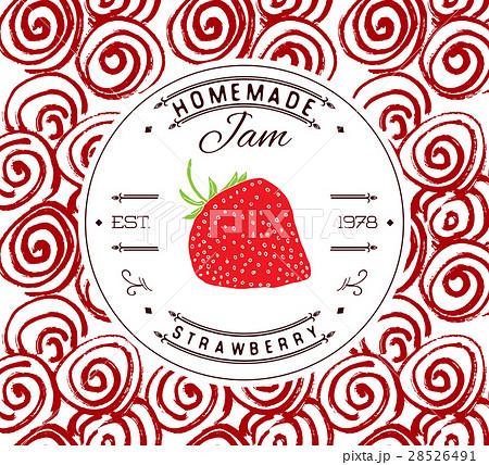 ジャム 苺 イチゴジャム フルーツジャムのイラスト素材 pixta