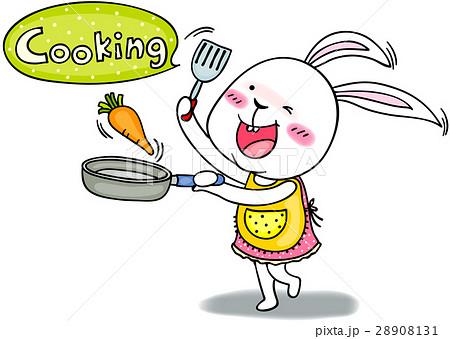キャラクター 可愛い 料理 うさぎのイラスト素材 Pixta
