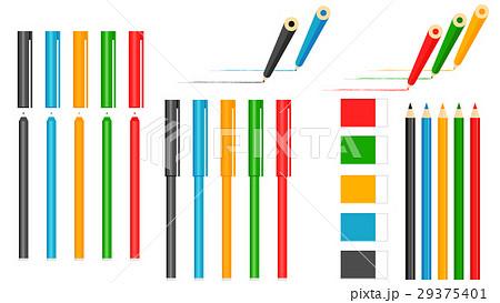 カラーペンの写真素材 Pixta