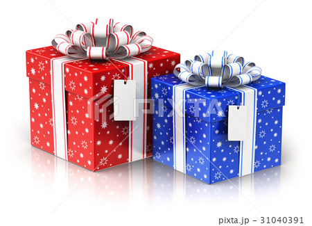 pixta gift present boxes with ribbon bows and label tags negle Choice Image