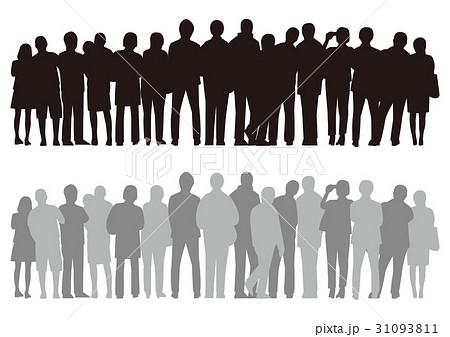 人々行列のイラスト素材 Pixta