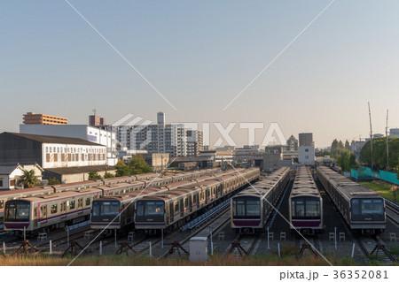 大阪市営地下鉄谷町線の写真素材...