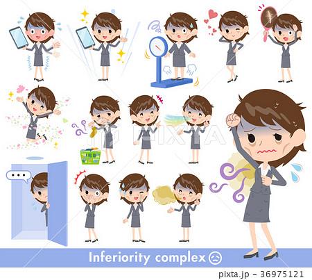 女性 社畜 会社員 コンプレックスのイラスト素材 Pixta