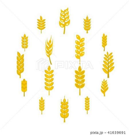 麦 小麦 穂 麦穂のイラスト素材 pixta