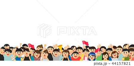 人混みのイラスト素材 Pixta