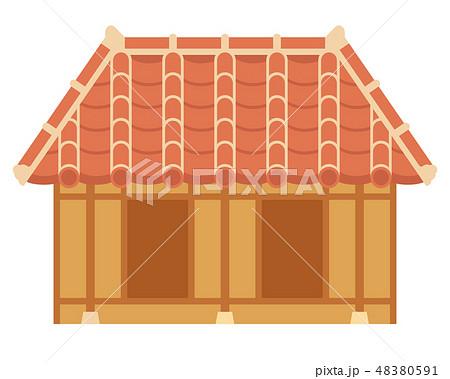 瓦屋根のイラスト素材 Pixta