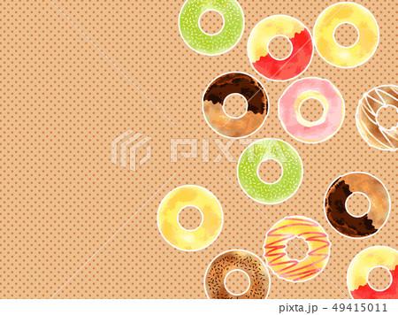 ドーナッツ かわいいのイラスト素材 Pixta