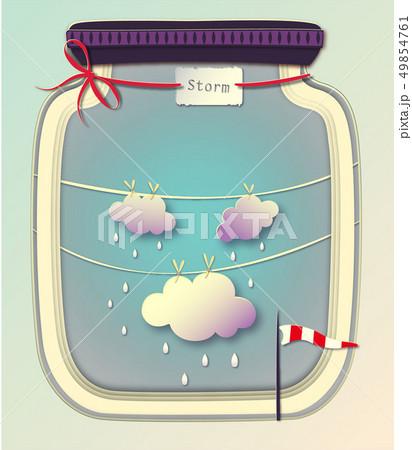 嵐 暴風雨 アイコン マンガのイラスト素材 Pixta