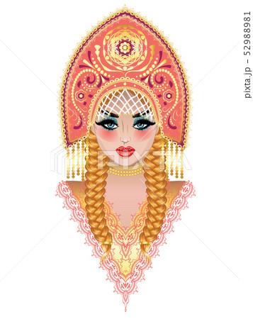 ロシア人 女の子のイラスト素材 Pixta