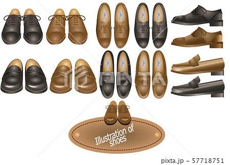 靴 革靴 黒 正面の写真素材 , PIXTA
